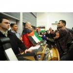 Acción directa contra asesor de Lieberman en Edimburgo