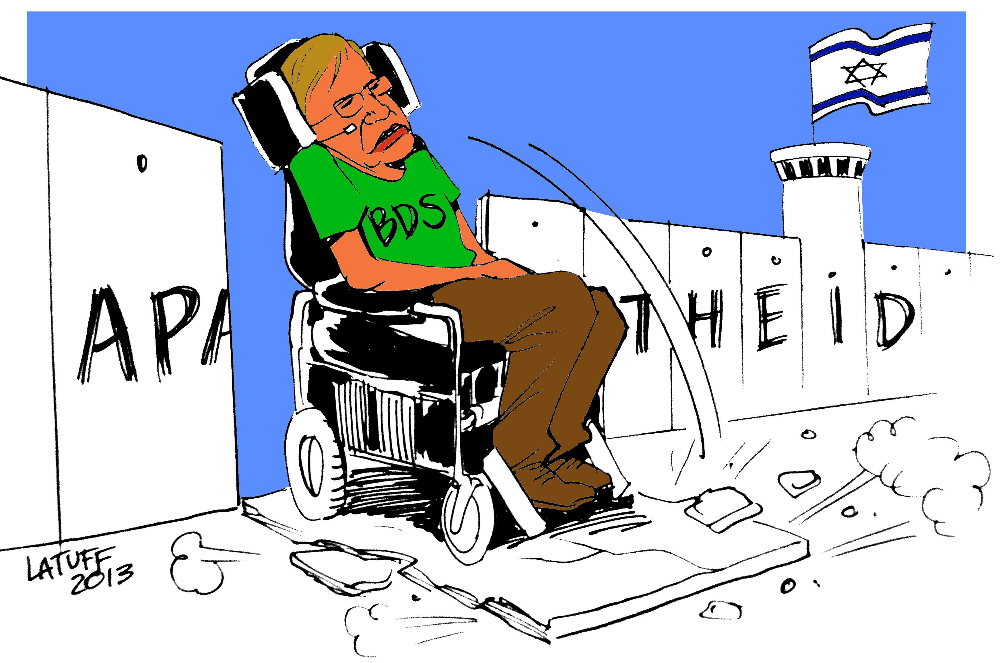 Caricatura de Carlos Latuff sobre Stephen Hawking