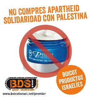 Boicot a los cosméticos PREMIER: No compres apartheid, solidaridad con Palestina