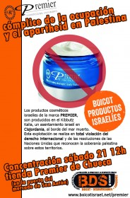 Acción de boicot a PREMIER en el Mercado San Antón