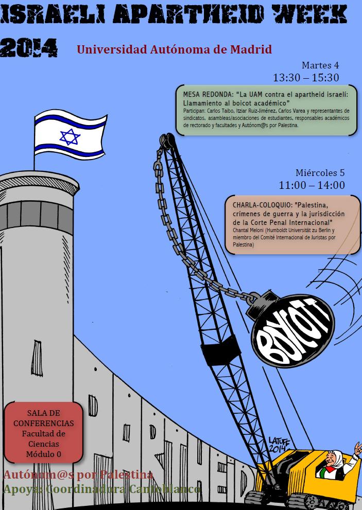Semana Contra el Apartheid Israelí en la Universidad Autónoma de Madrid.