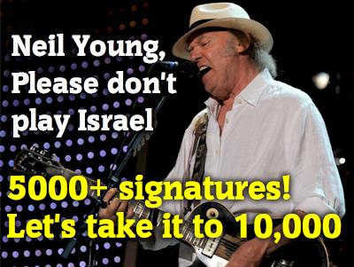 Más de 5.000 personas han pedido a Neil Young que no toque en Israel.