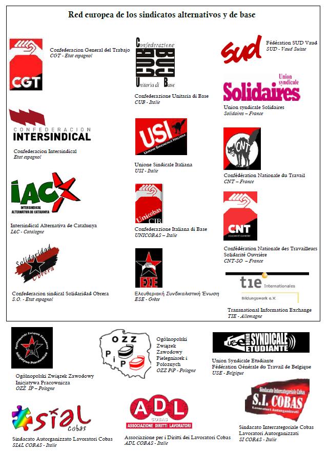 Red europea de los sindicatos alternativos y de base apoyan el BDS.