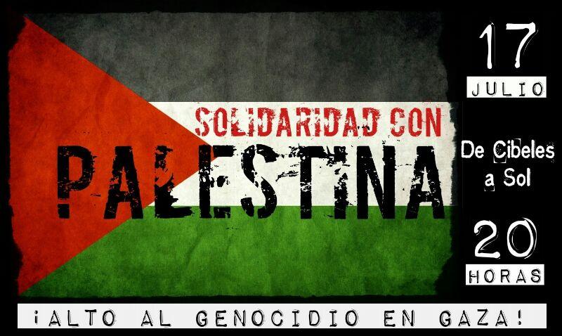 #17JSOSGaza Concentración