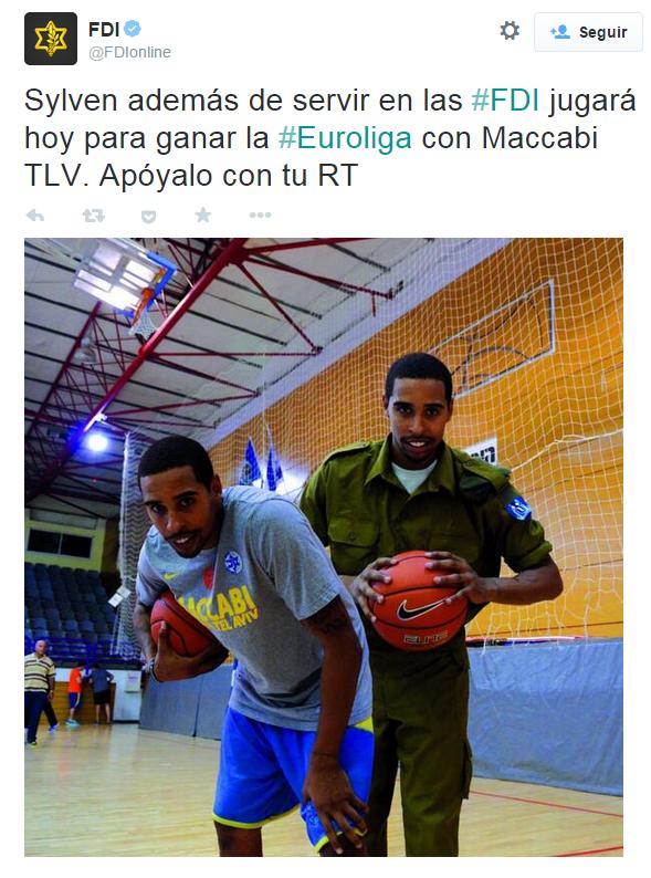 El ejército israelí se jacta de sus buenas relaciones con el Maccabi / FDIonline