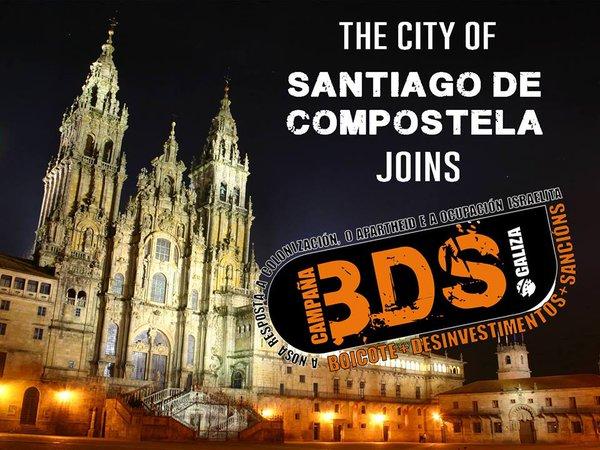 La ciudad de Santiago de Compostela se une al BDS / BDS Galiza